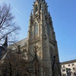 Sicht auf den Turm der St.-Josefs-Kirche
